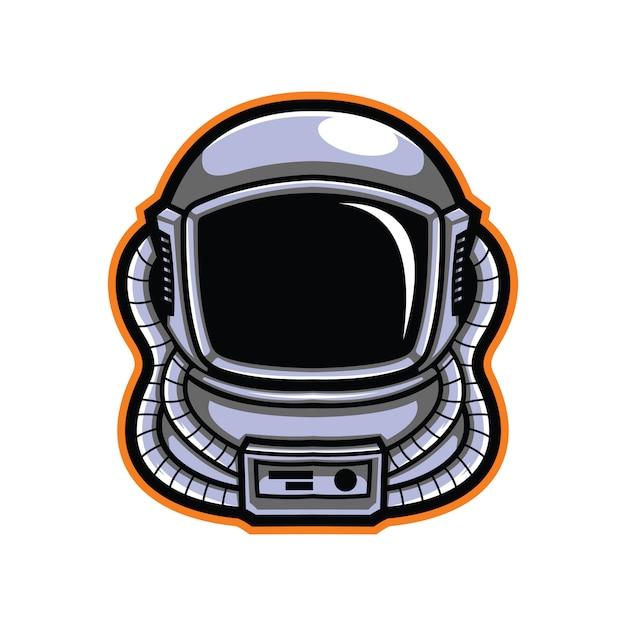 Ilustracja Głowa Astronauta Premium Wektorów