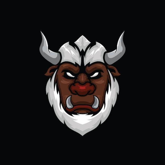 Ilustracja Głowy Potwora Yeti Premium Wektorów