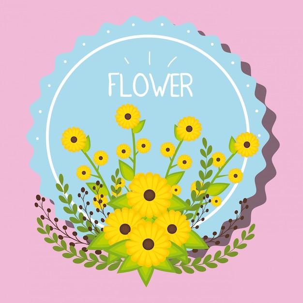 Ilustracja godło kwiaty Darmowych Wektorów
