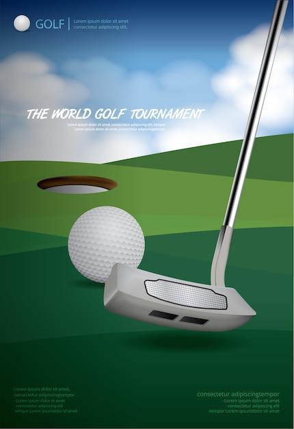 Ilustracja golf mistrzostwa ilustracji Premium Wektorów
