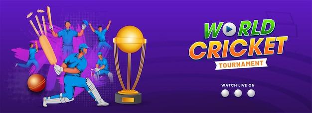 Ilustracja Graczy Cricketer W Akcji Stanowią Ze Złotym Premium Wektorów
