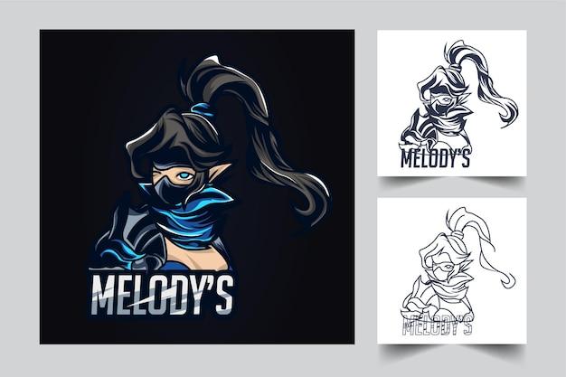 Ilustracja Graficzna Melody's Esport Premium Wektorów