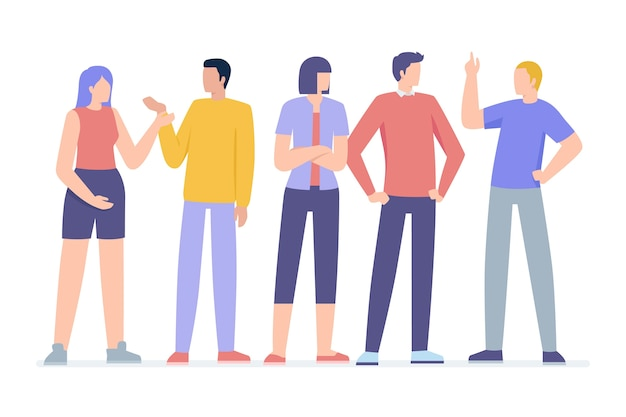 Ilustracja Grupy Ludzi Darmowych Wektorów