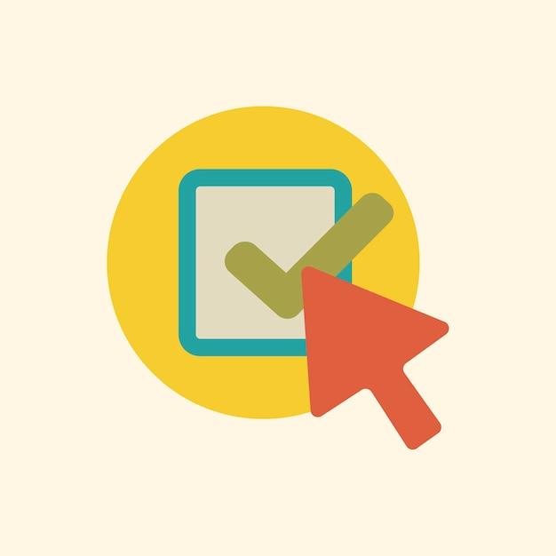 Ilustracja ikona strzałki wyboru Darmowych Wektorów
