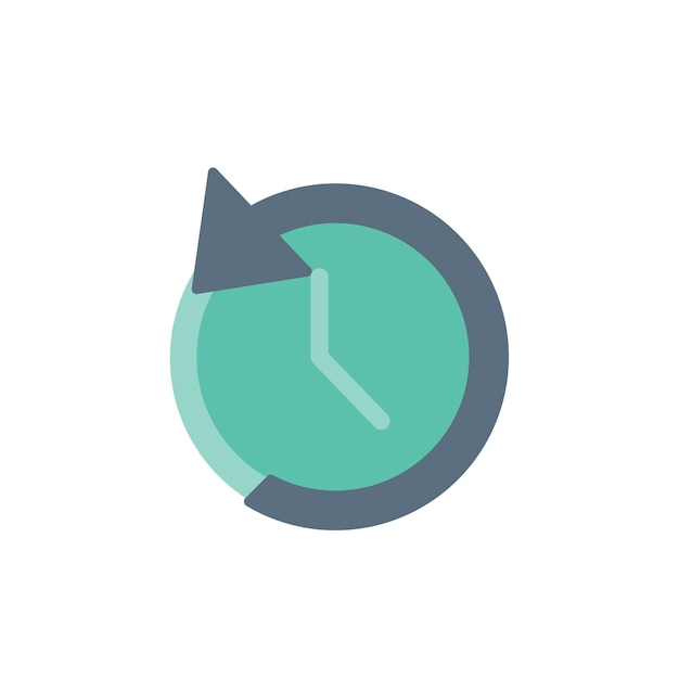 Ilustracja ikona zegara odwrotnego Darmowych Wektorów