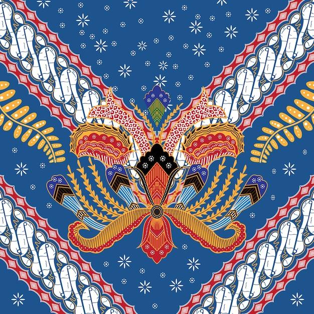Ilustracja Indonezyjski Batik Premium Wektorów