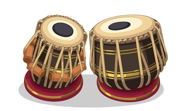Ilustracja Indyjski Instrument Muzyczny Darmowych Wektorów
