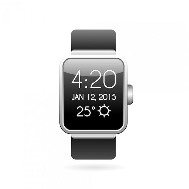 Ilustracja inteligentnego zegarka. Premium Wektorów