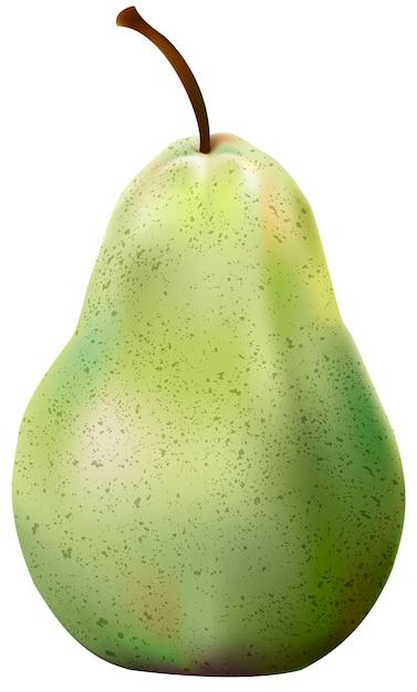 Ilustracja Jabłko Odizolowywająca Na Białym Tle Darmowych Wektorów