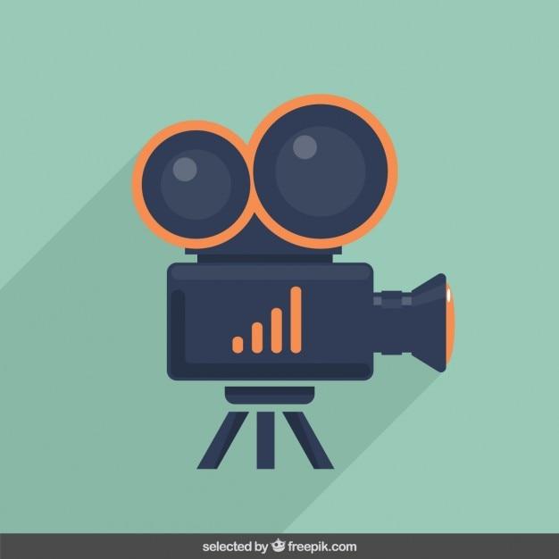 Ilustracja kamery wideo Darmowych Wektorów