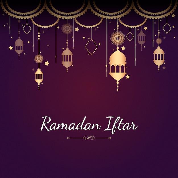 Ilustracja karty ramadan Darmowych Wektorów