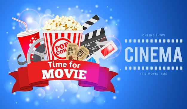 Ilustracja Kino I Film Premium Wektorów