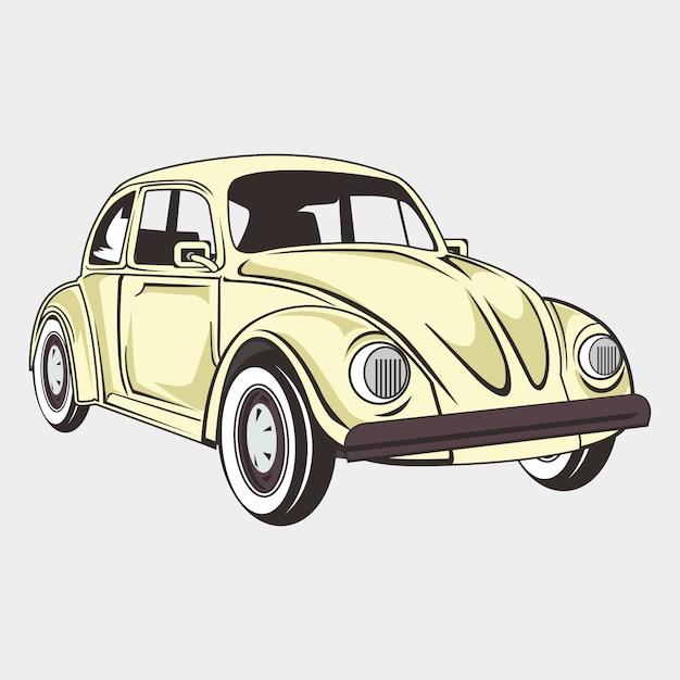 Ilustracja Klasyczny Samochód Chrząszcz Premium Wektorów