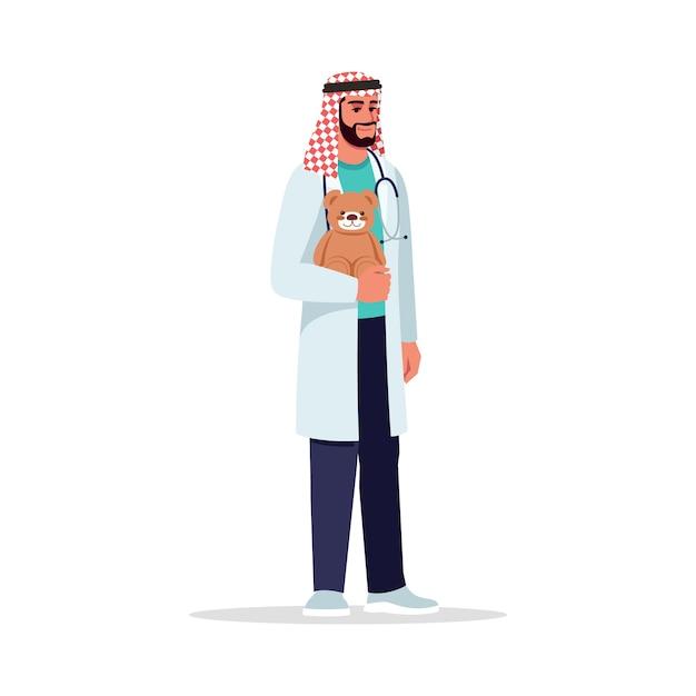 Ilustracja Kolor Pół Rgb Mężczyzna Pediatra Premium Wektorów