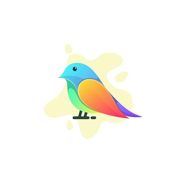 Ilustracja kolorowy ptak Premium Wektorów