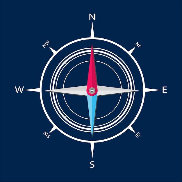 Ilustracja kompasu Darmowych Wektorów