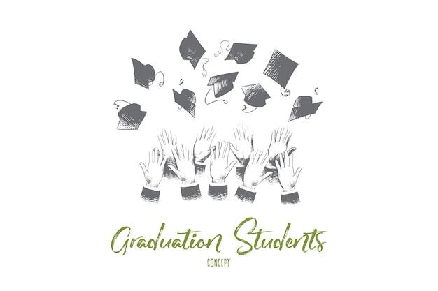 Ilustracja Koncepcja Absolwentów Premium Wektorów