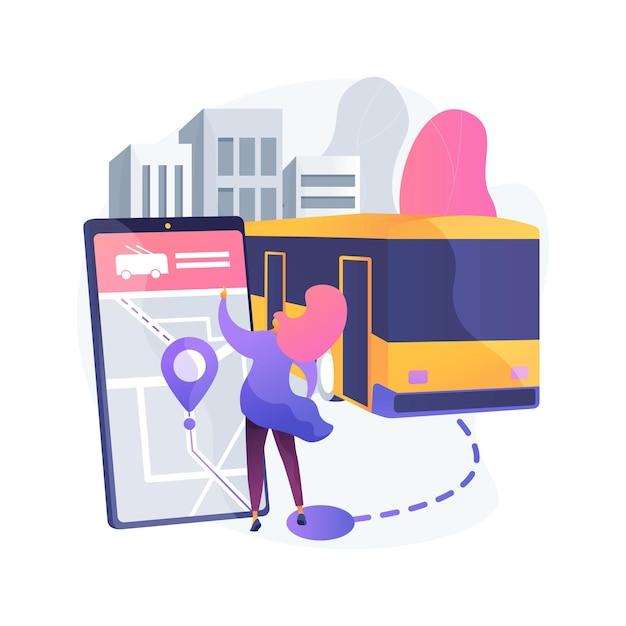 Ilustracja Koncepcja Abstrakcyjna Autonomicznego Transportu Publicznego Darmowych Wektorów