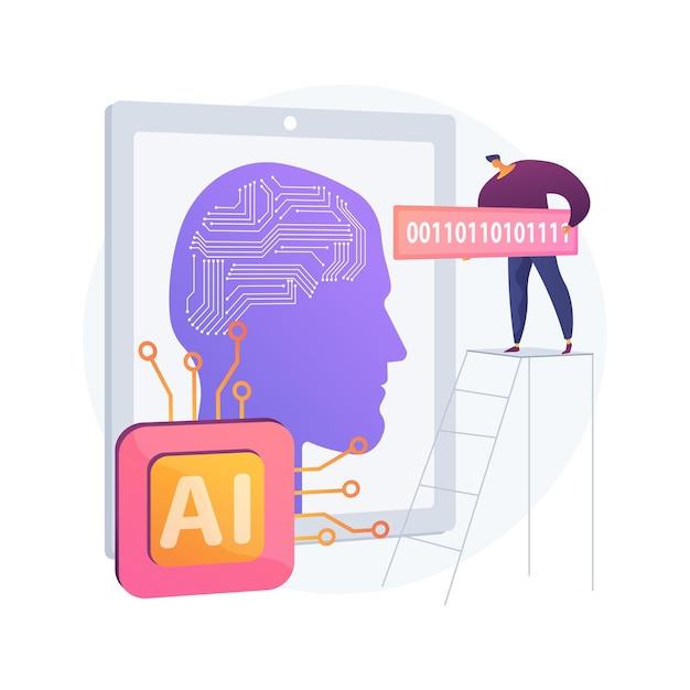 Ilustracja Koncepcja Abstrakcyjna Sztucznej Inteligencji Darmowych Wektorów