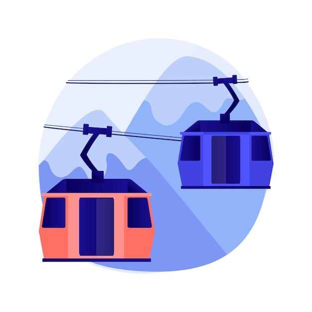 Ilustracja Koncepcja Abstrakcyjna Transportu Kablowego Darmowych Wektorów