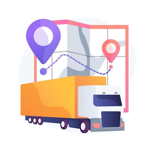Ilustracja Koncepcja Abstrakcyjna Transportu Krajowego Darmowych Wektorów