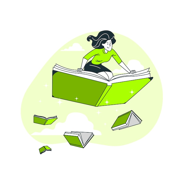 Ilustracja Koncepcja Bibliofil Darmowych Wektorów