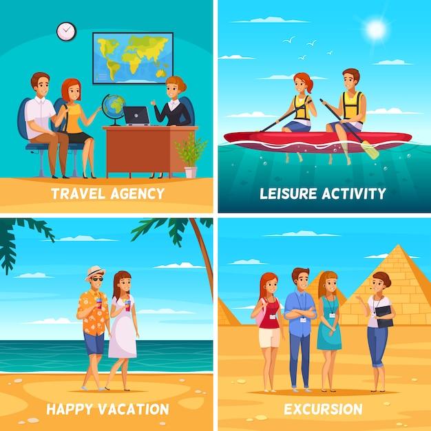 Ilustracja Koncepcja Biura Podróży Darmowych Wektorów