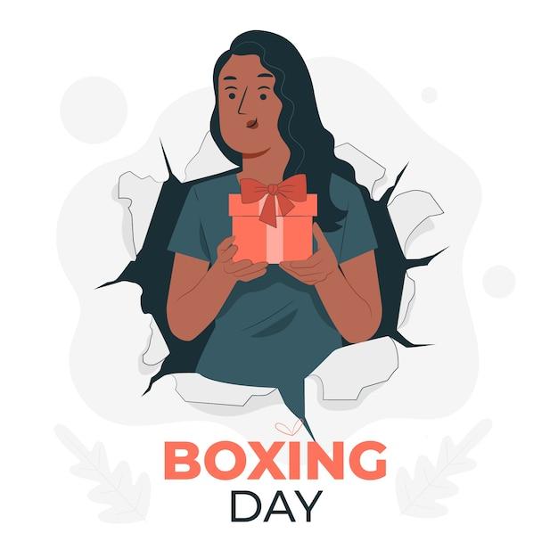 Ilustracja Koncepcja Boxing Day Darmowych Wektorów