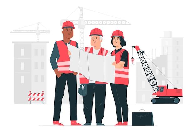Ilustracja Koncepcja Budowy Darmowych Wektorów