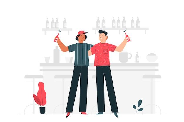 Ilustracja Koncepcja Celebracja Piwa Darmowych Wektorów