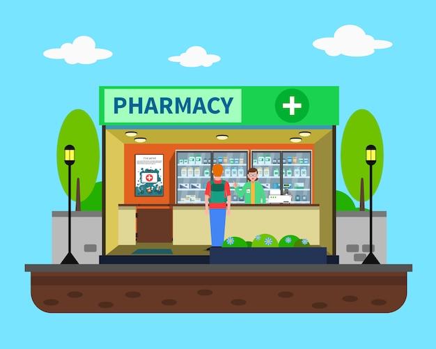 Ilustracja koncepcja farmacji Darmowych Wektorów