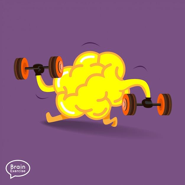 Ilustracja koncepcja fitness mózgu Premium Wektorów