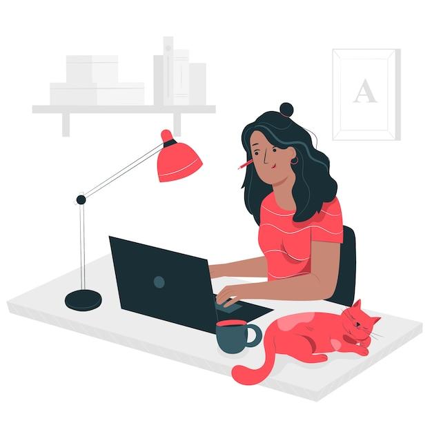 Ilustracja Koncepcja Freelancer Darmowych Wektorów