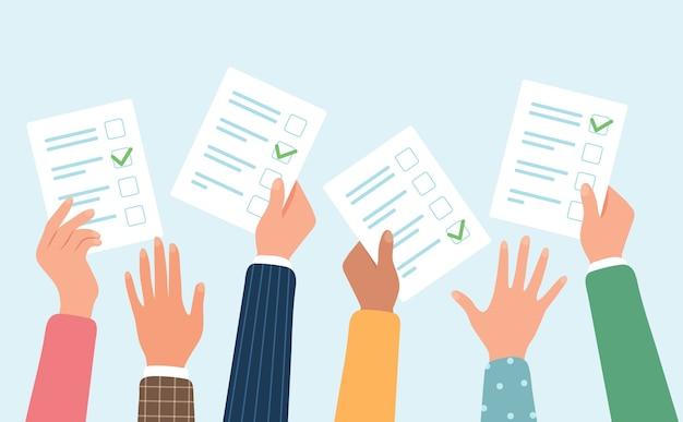 Ilustracja Koncepcja Głosowania Premium Wektorów