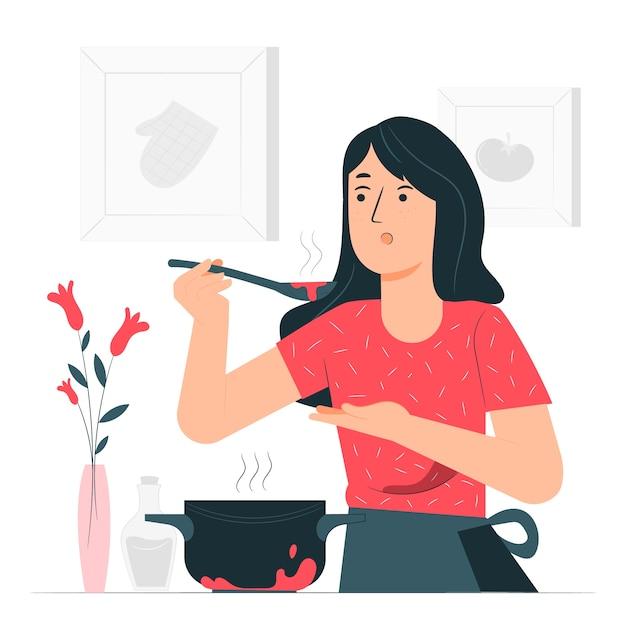 Ilustracja Koncepcja Gotowania Darmowych Wektorów