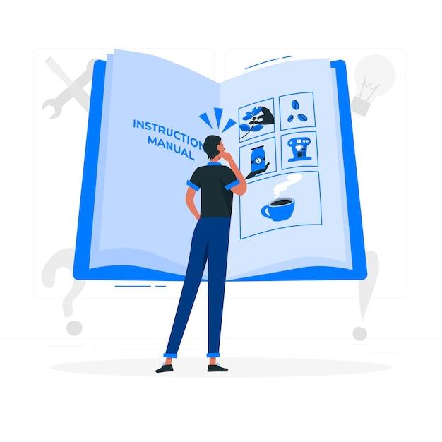 Ilustracja Koncepcja Instrukcji Obsługi Darmowych Wektorów