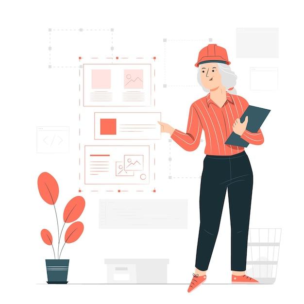 Ilustracja Koncepcja Inżyniera Oprogramowania Darmowych Wektorów