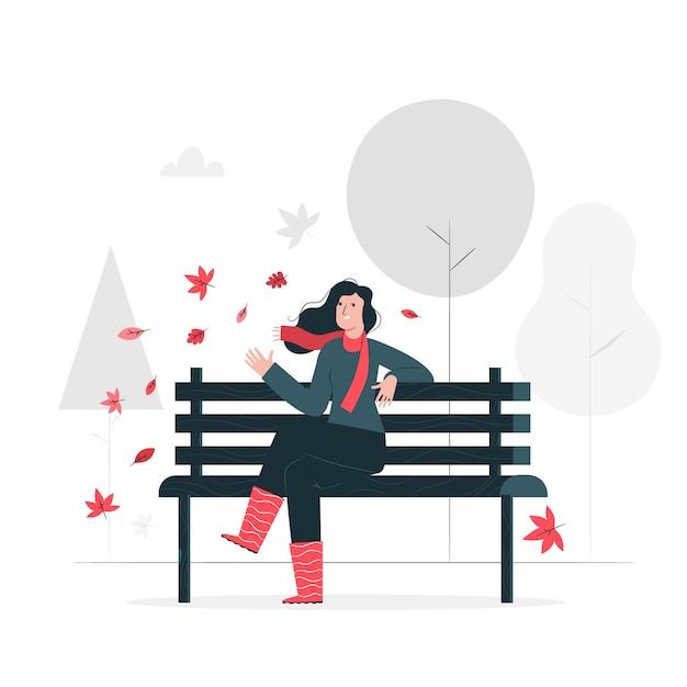 Ilustracja koncepcja jesień Darmowych Wektorów
