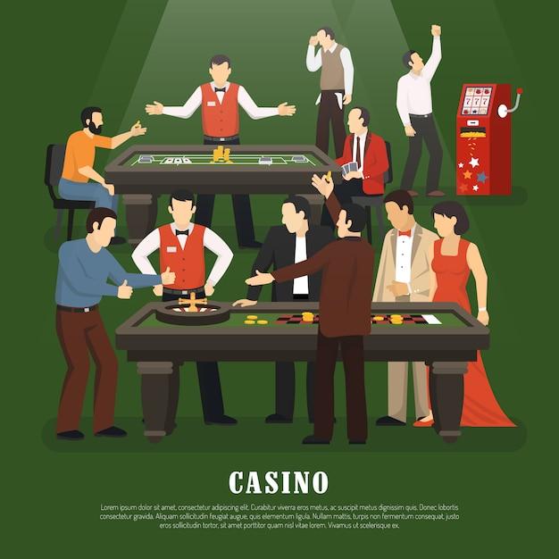 Ilustracja koncepcja kasyna Darmowych Wektorów