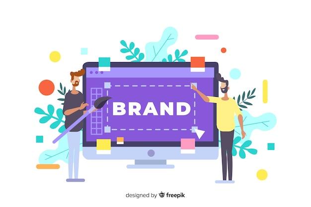 Ilustracja koncepcja marki dla strony docelowej Darmowych Wektorów