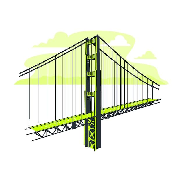 Ilustracja koncepcja mostu Darmowych Wektorów