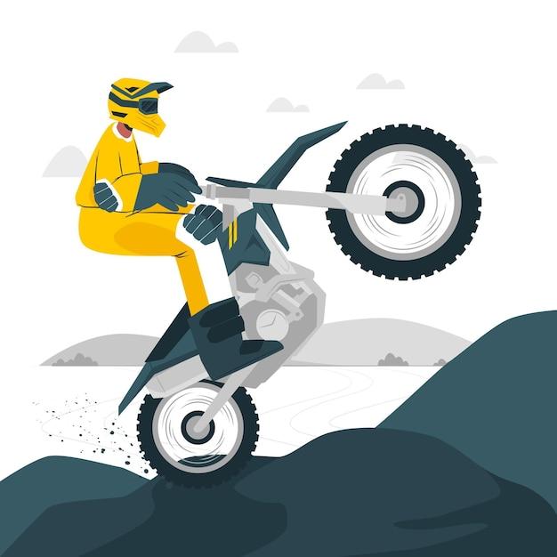 Ilustracja Koncepcja Motocross Darmowych Wektorów