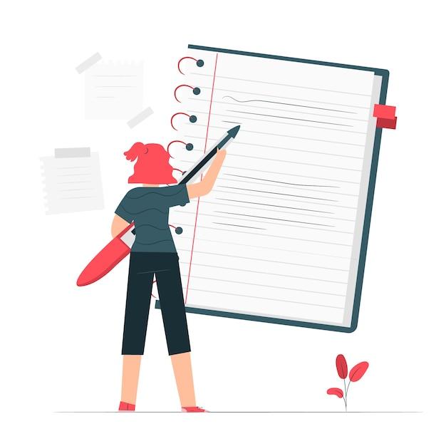 Ilustracja koncepcja notebooka Darmowych Wektorów