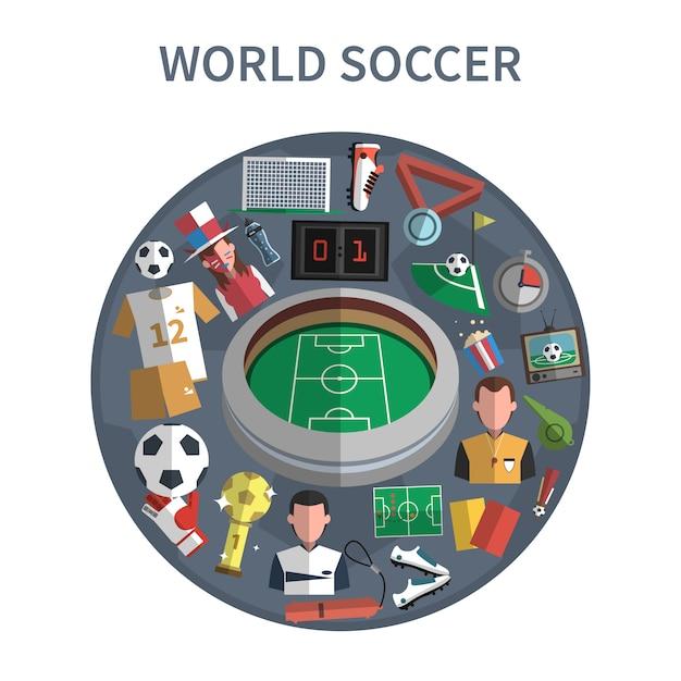 Ilustracja koncepcja piłka nożna Darmowych Wektorów