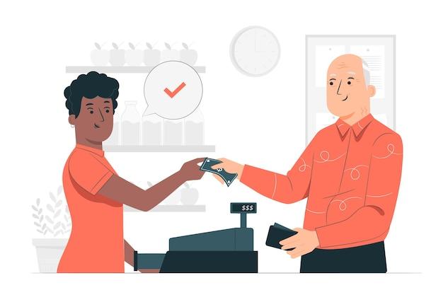 Ilustracja Koncepcja Płatności Gotówką Darmowych Wektorów