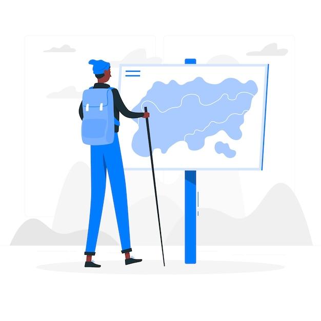 Ilustracja Koncepcja Podróży Darmowych Wektorów