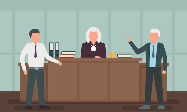 Ilustracja Koncepcja Prawnika, Płaski Premium Wektorów