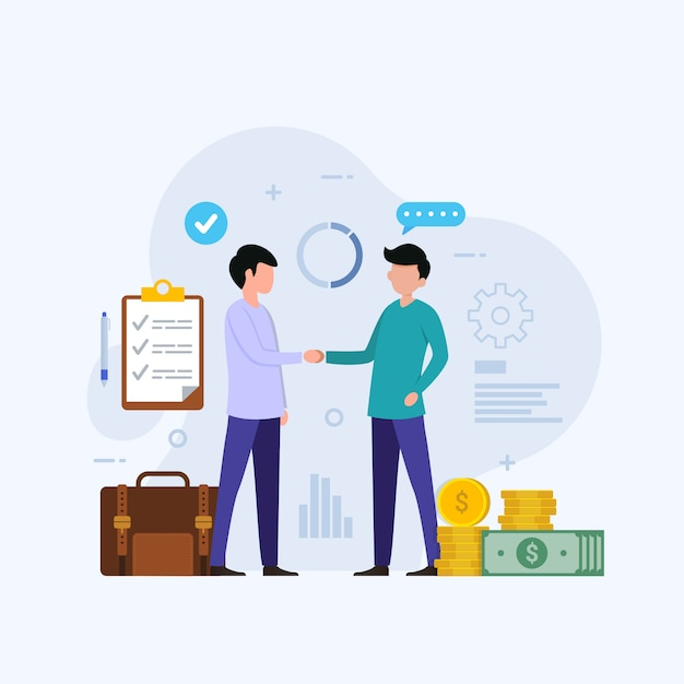 Ilustracja Koncepcja Projektu Inwestycji Biznesowych Premium Wektorów
