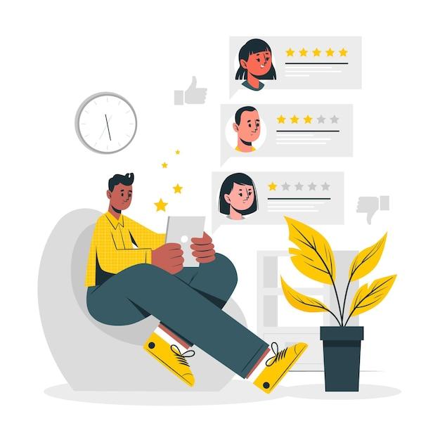 Ilustracja Koncepcja Przeglądu Online Darmowych Wektorów