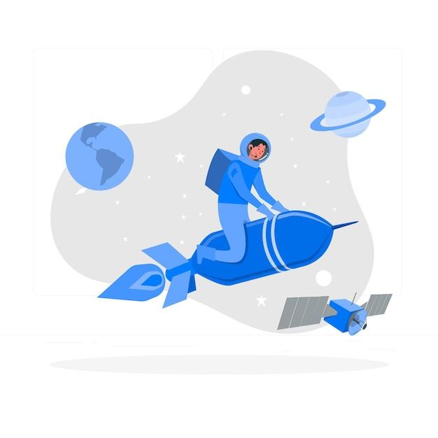 Ilustracja Koncepcja Rakiety Darmowych Wektorów